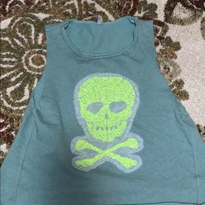 Skull Sweatshirt Tank Top!